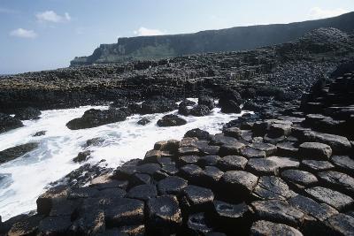 UK, Northern Ireland, County Antrim, Prismatic Basalt Columns of Giant's Causeway--Giclee Print