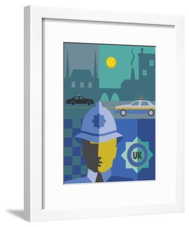 UK Police Montage--Framed Art Print