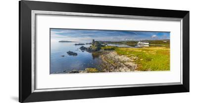 UK, Scotland, Argyll and Bute, Islay, Lagavulin Bay, Lagavulin Whisky Distillery-Alan Copson-Framed Photographic Print