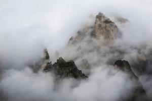 A Cloud Shrouded Peak in the Pala Di San Martino by Ulla Lohmann