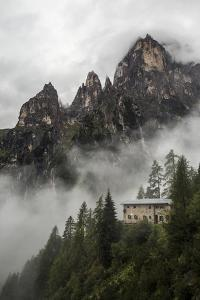 Cloud Shrouded Peaks Above the Rifugio Treviso in the Pala Di San Martino by Ulla Lohmann