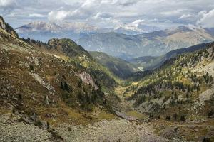 Forcella Valmaggiore, Valbona Valley, and a View of Latemar and Rosengarten by Ulla Lohmann