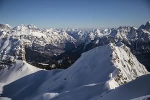 From Forca Rossa, a View Towards Cime D'Auta, Showing Scant Snow Cover in the Valley by Ulla Lohmann