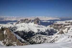 Plattkofel, Grohmannspitze, Grohmann Peak, Fuenffingerspitze, Five Finger Peak, Langkofel, Sella by Ulla Lohmann