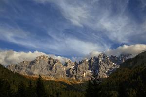 Sunlight Strikes the Pala Di San Martino Range by Ulla Lohmann