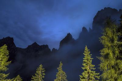 The Pala Di San Martino Peaks at Night