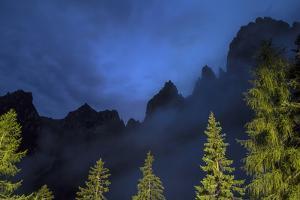 The Pala Di San Martino Peaks at Night by Ulla Lohmann