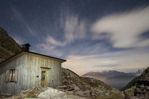 The Paolo E Nicola Hut and Forecella Valmaggiore Bathed in Starlight by Ulla Lohmann