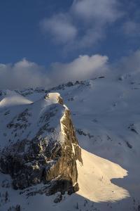 The Sunlit Col Di Bousc, Marmolada Glacier by Ulla Lohmann