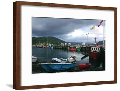Ullapool Harbour on a Stormy Evening, Highland, Scotland-Peter Thompson-Framed Premium Photographic Print