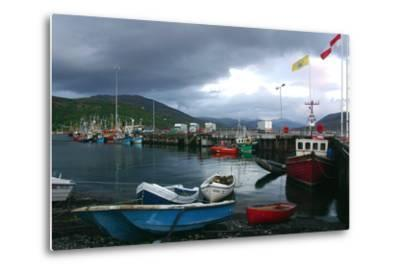 Ullapool Harbour on a Stormy Evening, Highland, Scotland-Peter Thompson-Metal Print
