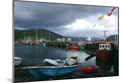 Ullapool Harbour on a Stormy Evening, Highland, Scotland-Peter Thompson-Mounted Photographic Print