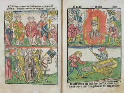 Jan Hus Burnt at the Stake at the Council of Constance