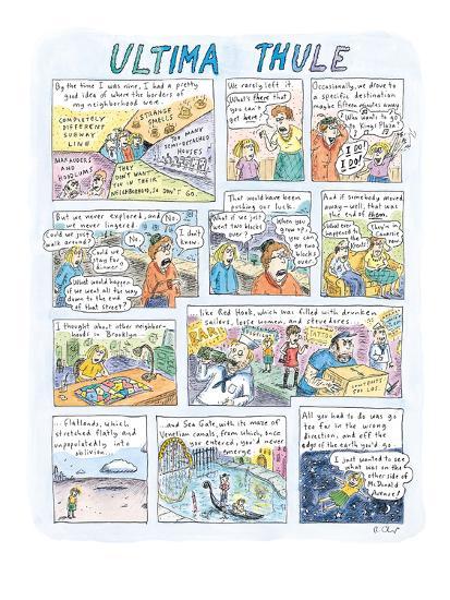 Ultima Thule - New Yorker Cartoon-Roz Chast-Premium Giclee Print