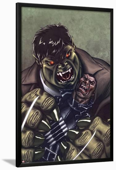 Ultimate Avengers 3 No.2 Cover: Blade and Hulk Fighting-Ed McGuinness-Lamina Framed Poster