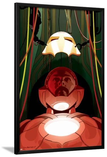 Ultimate Comics Iron Man #1 Cover Featuring Iron Man, Tony Stark-Frank Stockton-Lamina Framed Poster