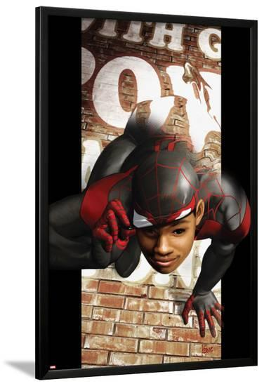 Ultimate Comics Spider-Man No.6 Cover: Spider-Man Transforming-Kaare Andrews-Lamina Framed Poster