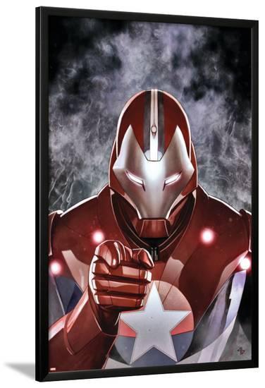 Ultimate Comics Ultimates #19 Cover: Iron Patriot-Adi Granov-Lamina Framed Poster