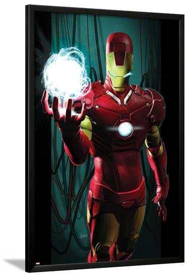 Ultimate Comics Ultimates No.3 Cover: Iron Man with Energy-Kaare Andrews-Lamina Framed Poster