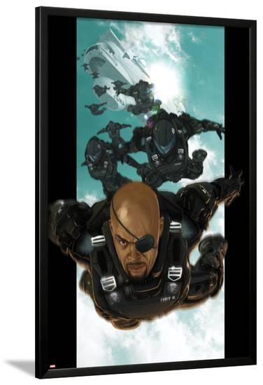 Ultimate Comics Ultimates No.4: Nick Fury Falling through the Sky-Esad Ribic-Lamina Framed Poster