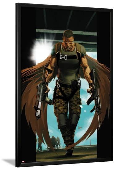 Ultimate Comics Ultimates No.7 Cover: Falcon Walking-Kaare Andrews-Lamina Framed Poster