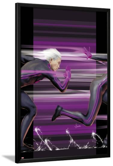 Ultimate Comics X-Men No.4 Cover: Quicksilver Running-Kaare Andrews-Lamina Framed Poster