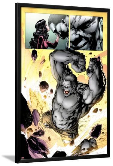 Ultimate Fallout No.3: Panels with Hulk Smashing-Steve Kurth-Lamina Framed Poster