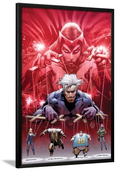 Ultimate Fallout No.5 Cover: Witch, Quicksilver, Sabretooth, Blob, and Mystique-Bryan Hitch-Lamina Framed Poster