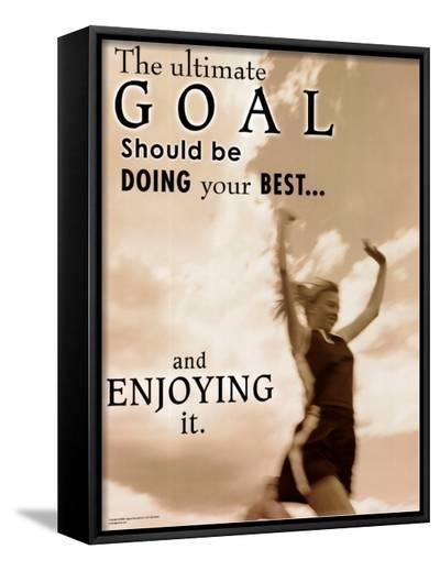 Ultimate Goal--Framed Canvas Print