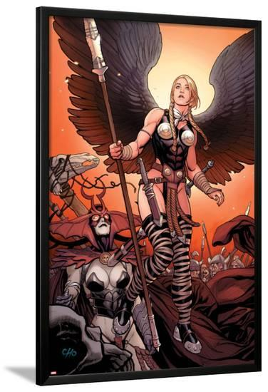 Ultimate New Ultimates No.4: Valkyrie and Hela Standing-Frank Cho-Lamina Framed Poster