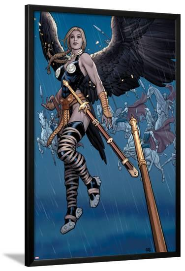 Ultimate New Ultimates No.5: Valkyrie in the Rain with a Sword-Frank Cho-Lamina Framed Poster