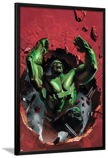 Ultimate Origins No.4 Cover: Hulk-Gabriele DellOtto-Lamina Framed Poster