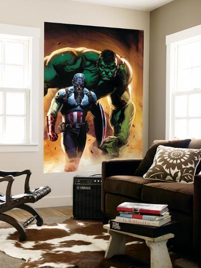 Ultimate Origins No.5 Cover: Captain America and Hulk-Gabriele DellOtto-Wall Mural