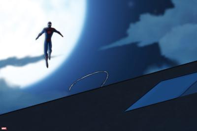 Ultimate Spider-Man Animation Still--Art Print