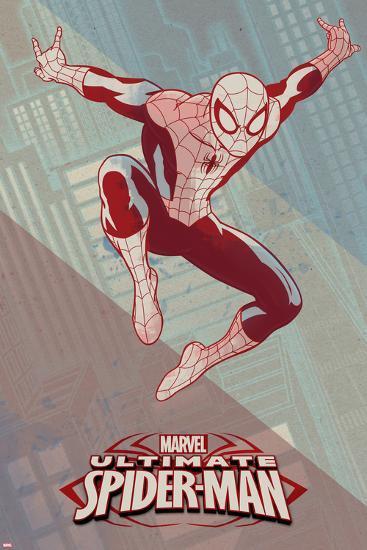 Ultimate Spider-Man Art Deco--Art Print