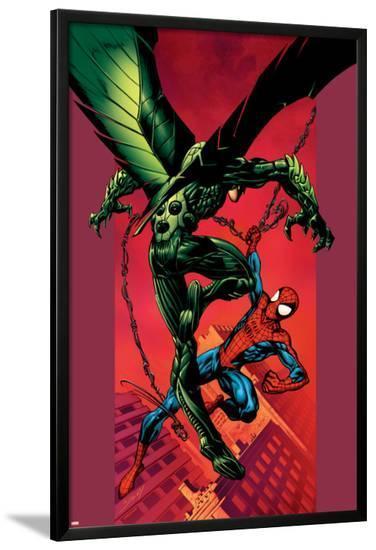 Ultimate Spider-Man No.90 Cover: Vulture and Spider-Man-Mark Bagley-Lamina Framed Poster