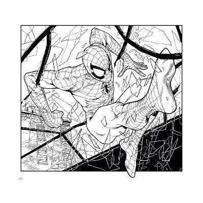 Ultimate Spider-Man Style Guide: Spider-Man--Art Print