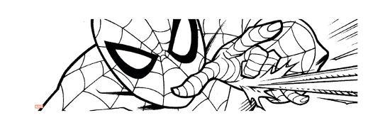 Ultimate SpiderMan - Fall 2013 Panel Line Art--Art Print
