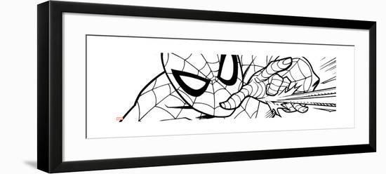 Ultimate SpiderMan - Fall 2013 Panel Line Art--Framed Art Print