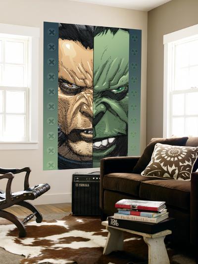 Ultimate Wolverine Vs. Hulk No.2 Cover: Logan and Hulk-Leinil Francis Yu-Wall Mural