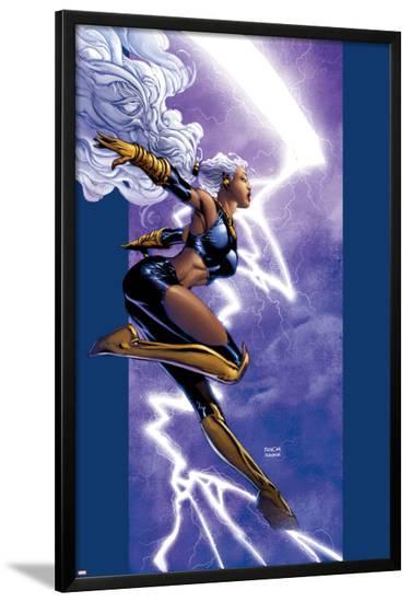 Ultimate X-Men No.42 Cover: Storm-David Finch-Lamina Framed Poster