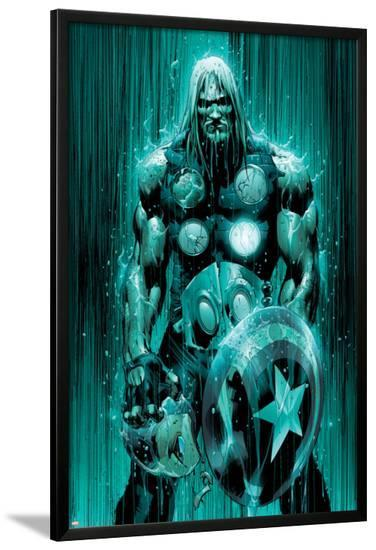 Ultimates No.2 Cover: Thor-Bryan Hitch-Lamina Framed Poster