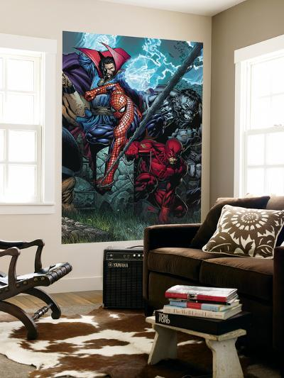 Ultimatum No.4 Cover: Spider-Man, Daredevil, Dr. Strange and Hulk-David Finch-Wall Mural
