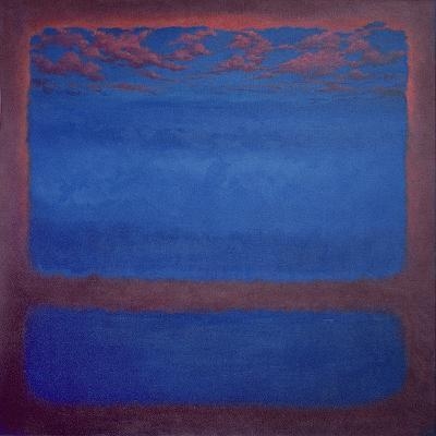 Ultramarine, 2001 Abstract Blue-Lee Campbell-Giclee Print