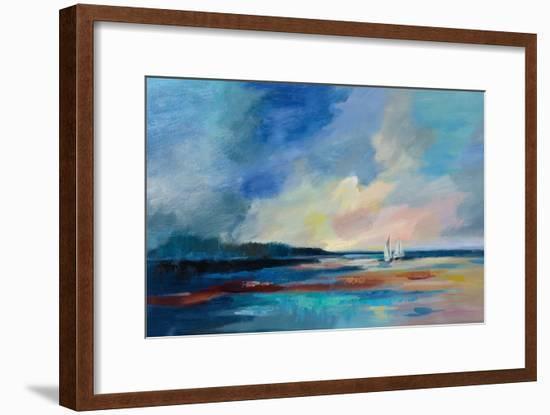 Ultramarine Sea and Sky-Silvia Vassileva-Framed Art Print