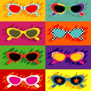 Collection Of Pop Art Sunglasses by UltraPop