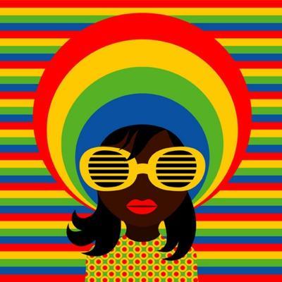 Retro Style Girl With Sunglasses