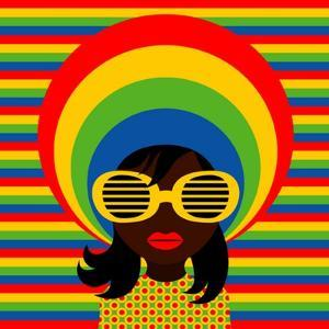 Retro Style Girl With Sunglasses by UltraPop