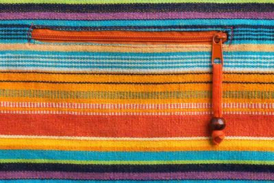 Colorful Fabric Texture With Zipper