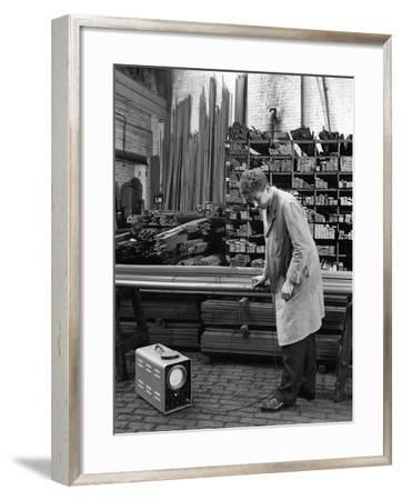Ultrasonic Testing of Steel, J Beardshaw and Sons, Sheffield, South Yorkshire, 1963-Michael Walters-Framed Photographic Print